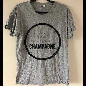 Champagne Is My Cardio Textured Shirt